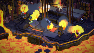 Birds on fire in the game Arrow Heads, for steam by OddBird
